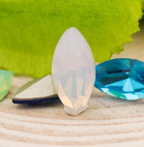High Quality K9 Crystal Colors Marquise Fancy Stone 7x15mm Navette Pointback Jewelry Stone