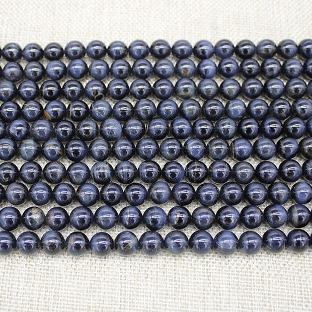 High Quality Nature Tiger's-eye Stone Round Loose Beads Blue Tiger Eye Beads For Jewelry Making Bracelet Earrings Necklace Beads