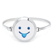 Hot Expression Face Essential Oils Locket Diffuser Perfume Aroma Stainless Steel Bangle7''-8''wrist Send Felt Pads
