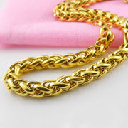Hot Sale Fashion Men Male Link Chain Necklace Gold 316L Stainless Steel Braided Snake Cuban Chain Necklace Jewelry