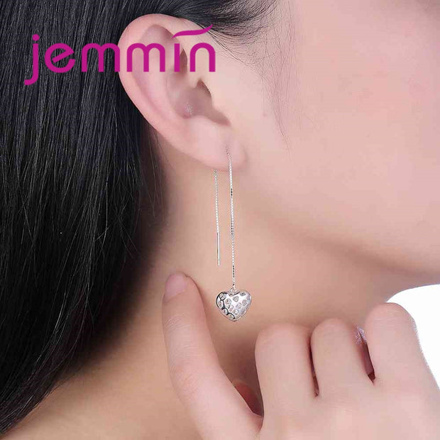 JEMMIN Unique Design Fashion Luxury 925 Sterling Silver Star-Shape Pendant Earrings Women Girl's Birthday Holiday Gifts CZ