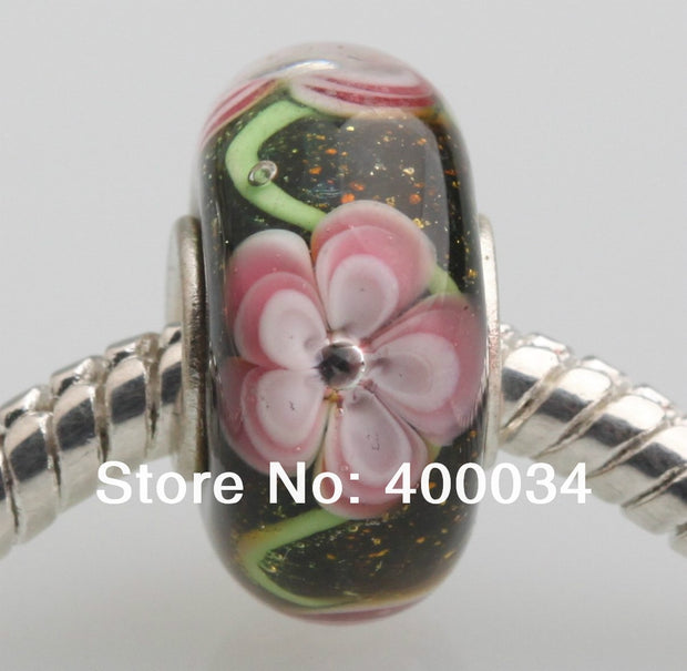 JP023 Lampwork Murano Glass Beads Fit For European Bracelet Pendants