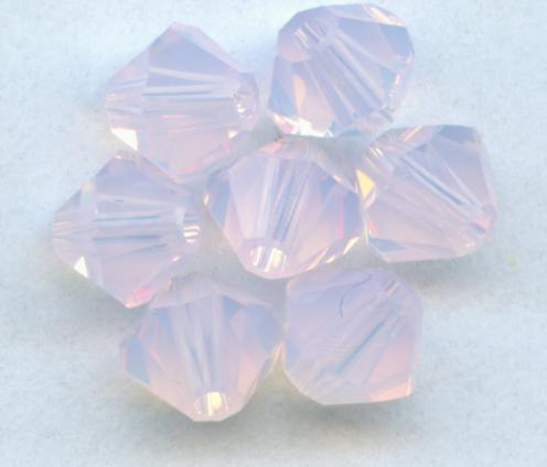 K9 Crystal Pink Opal Grade AAA 5301# 3mm 4mm 6mm 8mm Crystal Bicone Beads,Jewelry Spacer Glass Loose Beads / Stones