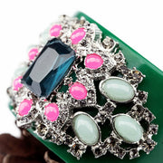 KISS ME New Designer Jewelry Charming Green Resin Opening CType Bangles
