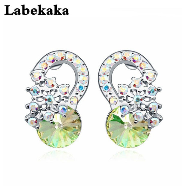 Labekaka Banquet Party Jewelry For Women Vintage Earrings Lady Jewellery