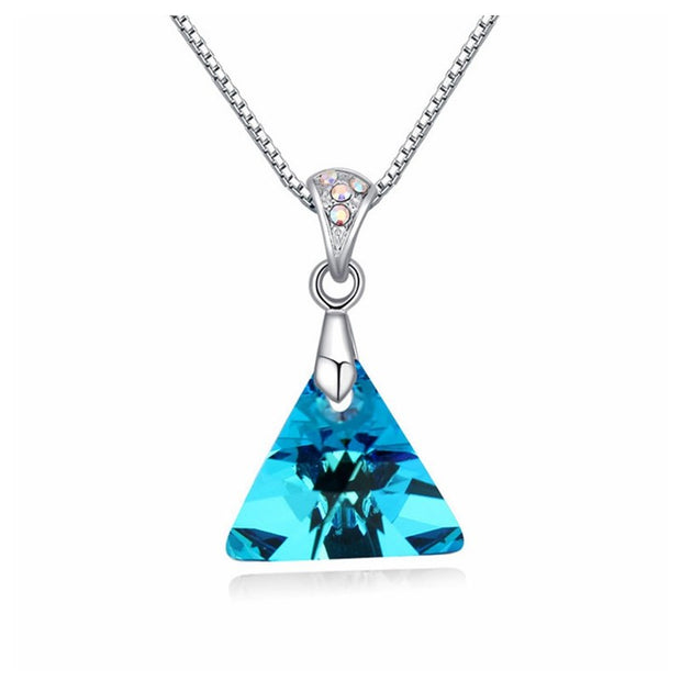 Labekaka Women Jewelry Fashion Geometry Sexy Punk Statement Pendant Necklace Crystal From Swarovski