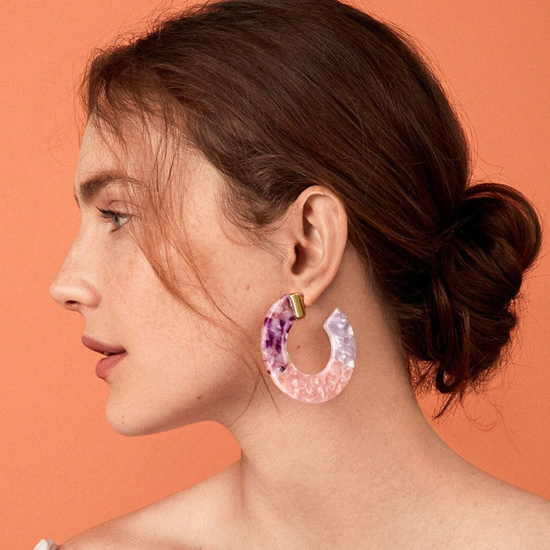 Leopard Grain Acrylic Classic Round Dangle Earrings Luxury Brand Hawksbill Resin Drop Earring Brincos 2018 New Wholesale