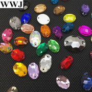 Link2:All Colors Oval Shape Glass Crystal Sew On Rhinestones 7x10 11x16 13x18 17x24mm Flatback 2holes Sewing Jewelry Beads