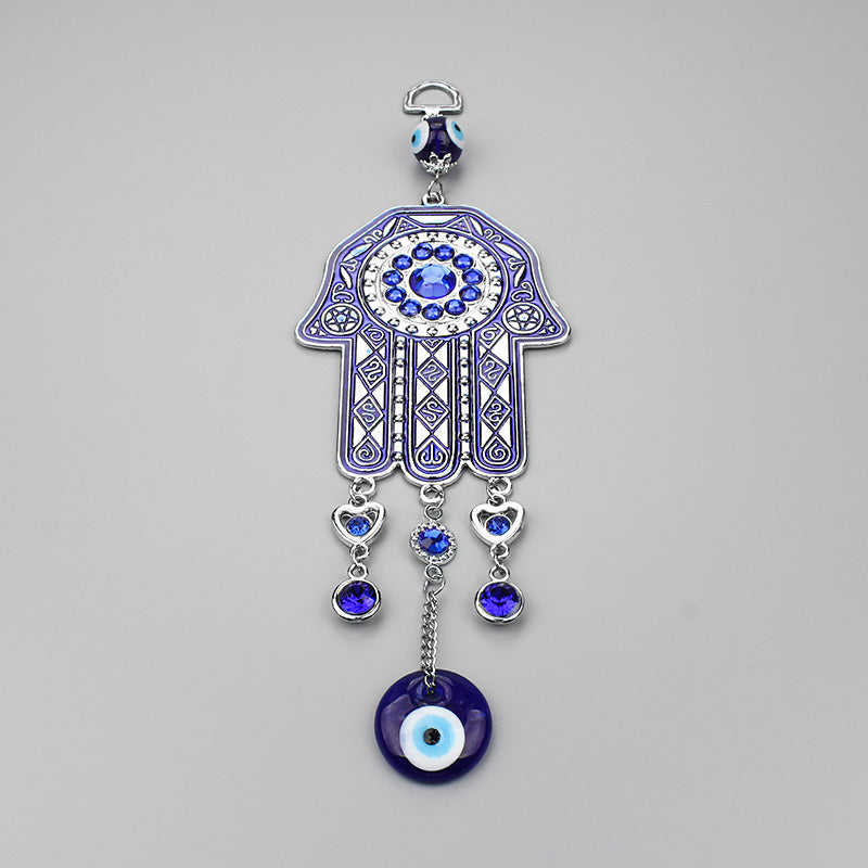 Lucky Butterfly Key Ring Hanging Ornament Amulet for Car ME9UE Blue Evil Eye Butterfly 7.65 Inches Pendant Decoration Home and Office for Protection and Blessing