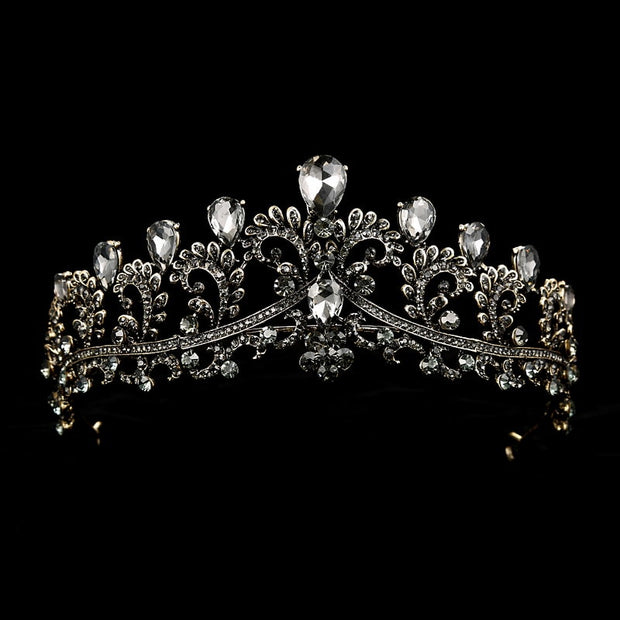 Luxury Rhinestone Wedding Crown Bridal Tiaras Bride Crown Vintage Headband Wedding Accessories Diadem Hair Jewelry Ornament