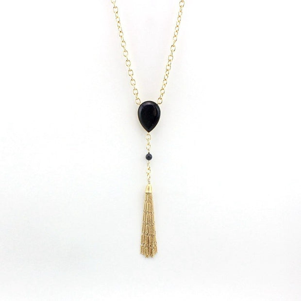 MELIHE Popular Gold Tassel Necklace For Women Long Beads Necklaces & Pendants Jewelry Vintage Accessories SNE160155