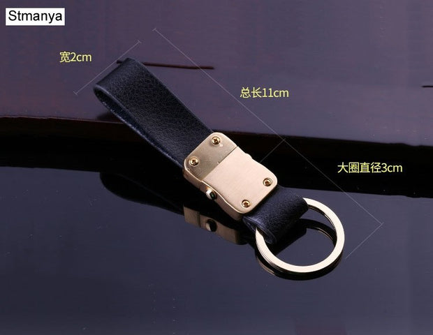 Men Top Key Chain New Leather Car Key Chain Business Waist Hanging Keychains Bag Charm Key Holder Best Gift Jewelry With Box