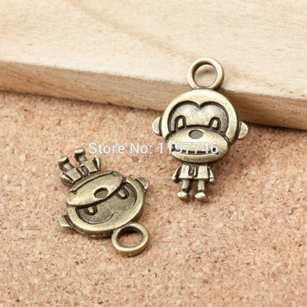 Mini Order Various Design New Antique Bronze Plated Animal Cartoon Monkey Gorilla Pendants Charms Jewelry Findings For DIY