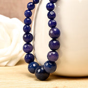 Mix Of Blue And Dark Colored Beads B U L E Jas-per Necklace Suitable For Business. Semiprecious