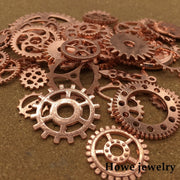 Mixed 100g Rose Gold Steampunk Gears And Cogs Clock Hands DIY European Style Jewelry Making