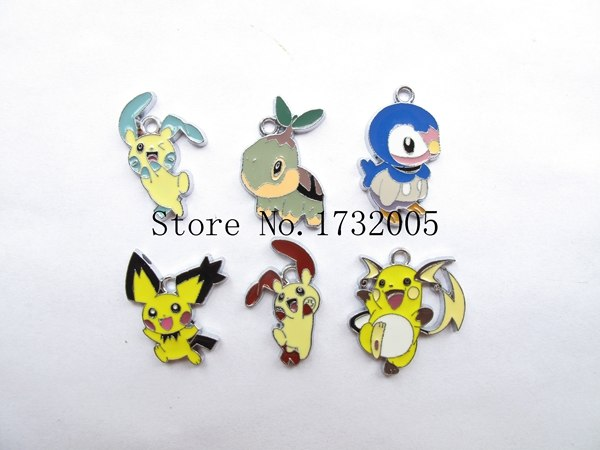 Mixed 20 Pcs Cartoon Japanese Anime Metal Charms Pendants DIY Jewelry Making Party Gifts PK-07