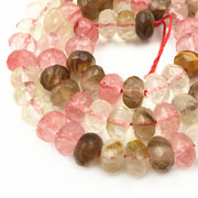 "Multicolor Watermelon Crystal Loose Beads 4x6mm 5x8mm Stone Jaspers Abacus Faceted Quartzs DIY Necklace Bracelet Craft 15"" A162"
