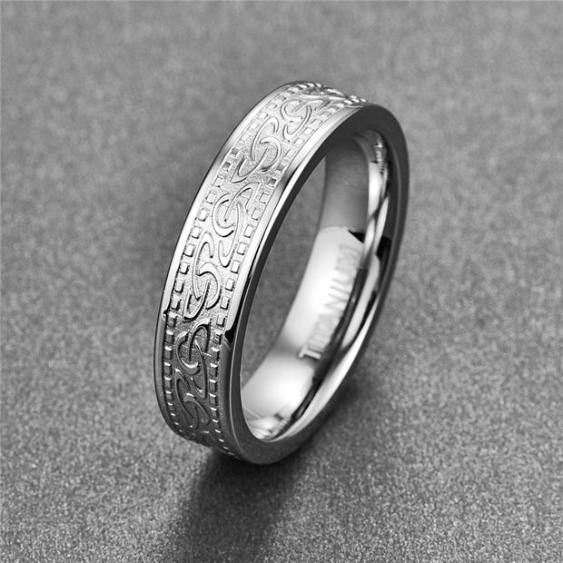 NUNCAD 316L High Quality Men Silvery 6MM Fashion Trend Titanium Stainless Ring Wedding Bands Classic Boyfriend Gift T135R