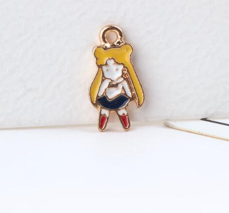 New 20 Pcs Cartoon Japanese Anime Sailor Moon Alloy Charm Pendants DIY Jewelry Making T-98