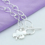 New Fashion 925 Silver Jewelry Four Leaf Clover Charm Bracelet For Women Gifts