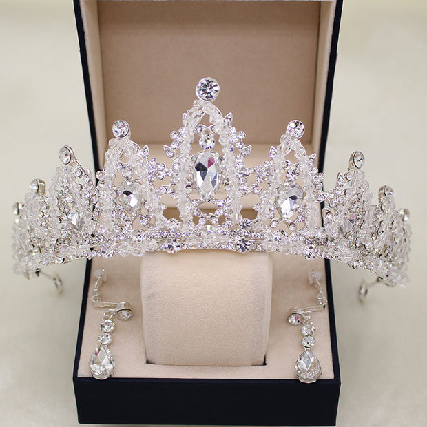 New Fashion Tiara Hairbands Korean Style Wedding Hair Accessories Bridal Alloy Trendy Jewelry For Women