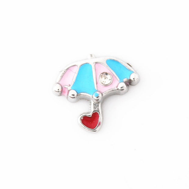 New Mix Many Styles Enamel Floating Charms For Glass Living Lockets Floating Charms Memory Locket DIY Jewelry