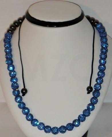 New Style!Free Shipping! Mix 10mm Micro Pave Disco Ball Beads Blue Crystal Necklace Crystal For Shamballa Shamballa