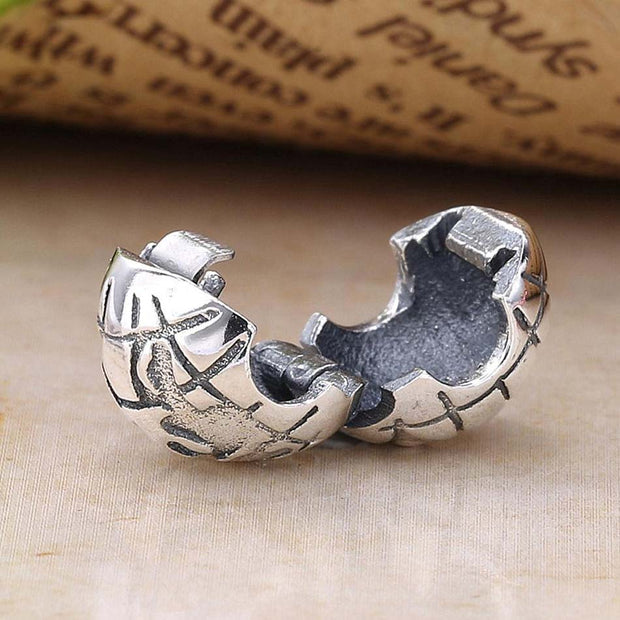 New Vintage The Earth Globe Clip Lock Stopper Beads Fit Pandora Bracelet Bangle Diy Jewelry 925 Sterling Silver Bead Charm