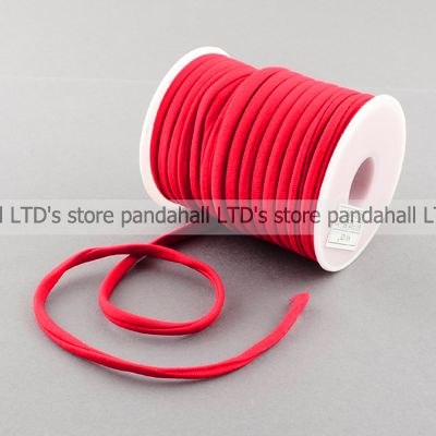 Nylon Thread Cord, Red, 5x3mm, About 20m/roll