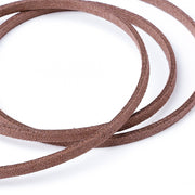 Pandahall Environmental Faux Suede Cord, Camel, 3.0x1.4mm; About 90m/roll