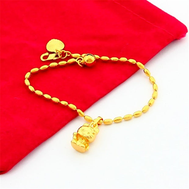 Plating 24K Gold Bracelet Bracelet Delicate Wedding Engagement Jewelery Pendant Bracelet JH053