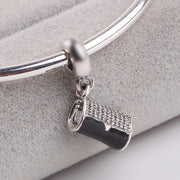 RS162 Couqcy 925 Sterling Silver Clutch Bag Dangle Charm Fit Original Pandora Bracelet Fine DIY Jewelry Accessories Gift