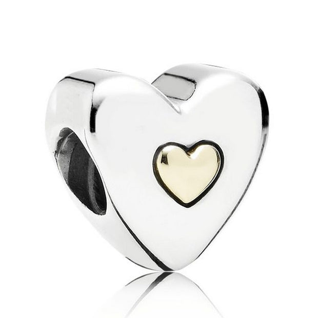 Radiant Fan Of Love Hearts Happy Anniversary Gift From The Heart Bead Fit Pandora Bracelet 925 Sterling Silver Charm Diy Jewelry