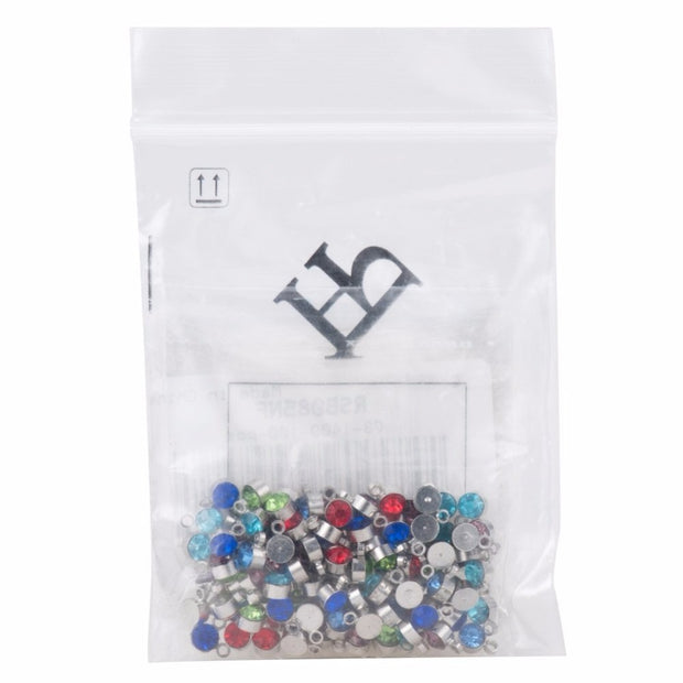 Rhinestone Pendants Mixed Color Charms 100pcs 4X3mm Flat Round Brass Middle East Charms Fashion Jewelry Drop Shipping PANDAHALL