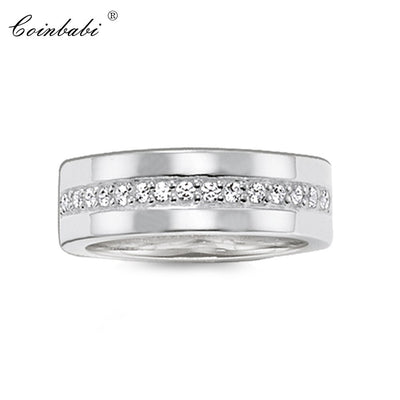 Rings 925 Sterling Silver Gift For Women, Thomas Style Glam Fashion Eternity Rings TS Fashion Jewelry Wholesale