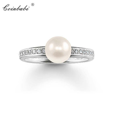 Rings Pearl 925 Sterling Silver Trendy Gift For Women, Thomas Style Glam Fashion Eternity Rings TS Fashion Jewelry Wholesale