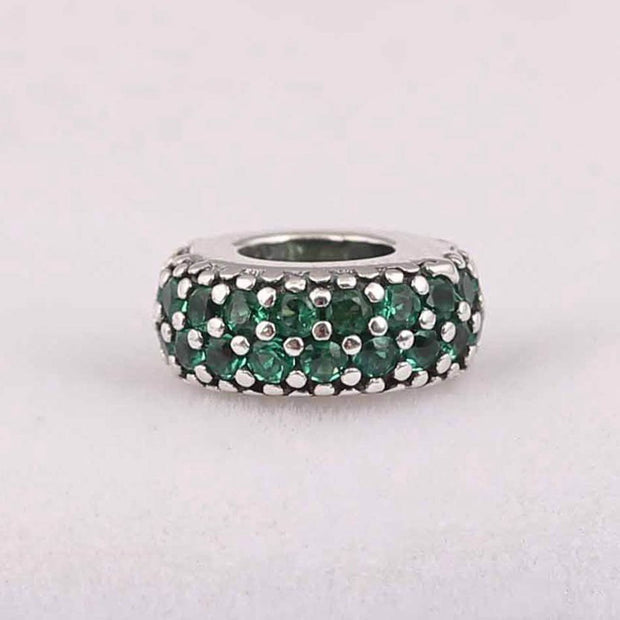 S925 Silver Spacers Beads Charms For Women Fit Original Pandora Bracelets & Bangles Inspiration Within Spacer Clear CZ DIY