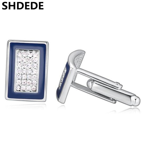 SHDEDE Fashion Crystal Cufflinks High Quality Men's French Shirt Designer Brand Accessories -19495