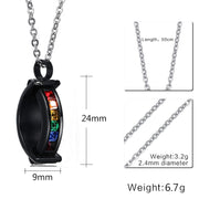 SIZZZ Europe And The United States Explosion Models Rainbow Stainless Steel Pendant & Necklaces For Men