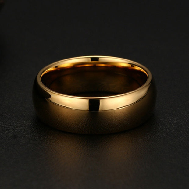 Simple Gold Color Tungsten Ring Wedding Band Tungsten Carbide Knuckle Ring Wedding Engagement Bridal Charm Bijoux Men SP0162