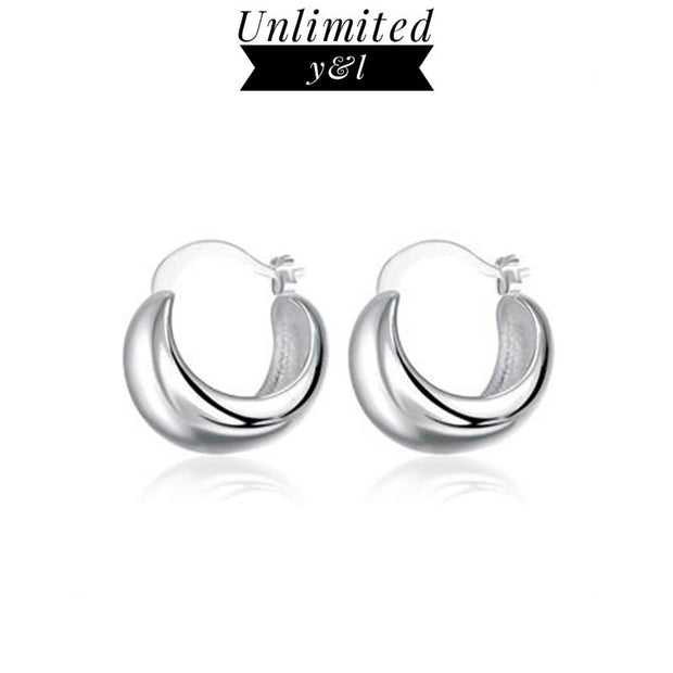 Simple Smooth Hoop Earrings For Women Men Round Earrings Silver Fashion Good Jewelry Gifts