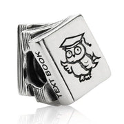 Snow White's Bird Owl Doctor Study Book Family Forever Hearts Charm Fit Pandora Bracelet 925 Sterling Silver Bead DIY Jewelry