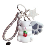 South Korea Hamsters Doll Key Lovely Bv Rope Car Key Chain Ring Pendant Female Bag Bag