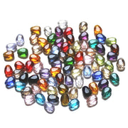 StreBelle AAA Fashion Glass Crystal Drop Beads 8x6mm Flat Heart Beads DIY Jewelry Accessories 100pcs