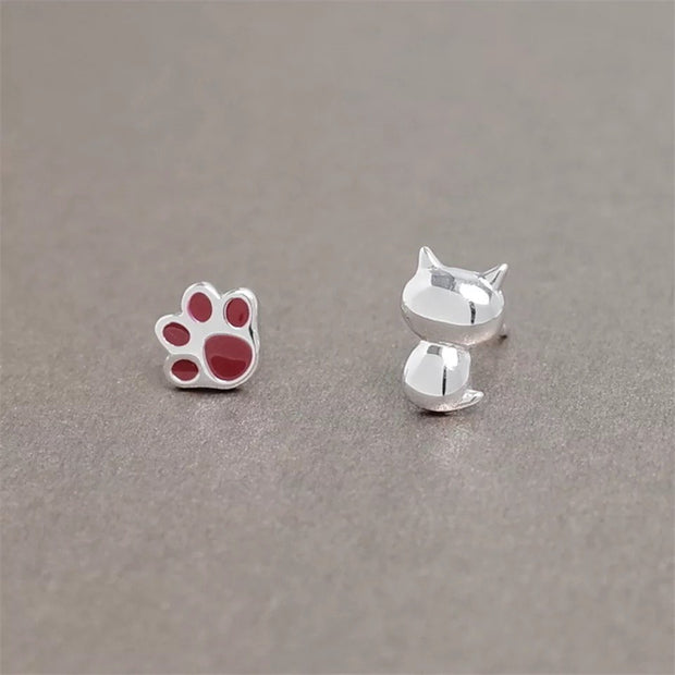 Swan Jewelry Exquisite Cat Claw Stud Earrings For Girls Women Cute Style Prevent Allergy Sterling Silver Jewelry Birthday Gifts