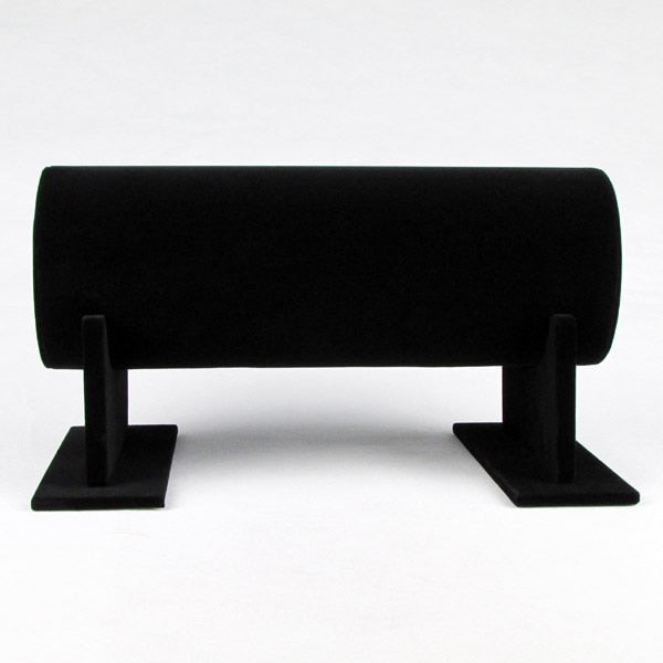 TONVIC High Quality Black Velvet Bracelet Hair Hoop Headband Watch Necklace Display Stand Holder T-Bar 30cm L