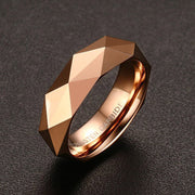 Three Colors Gold/Rose Gold Color Male Tungsten Carbide Ring Highly Polished Shining Wedding Engagement Party Ring For Men