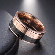 Titanium Band Wedding Solid Fashion 316L Stainless Steel Ring For Women Men Valentine's Day Rings