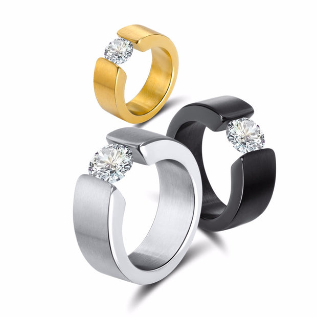 Titanium Band Wedding Solid Fashion 316L Stainless Steel Ring For Women Men Valentine's Day Wholesale Stainless Steel Jewelry