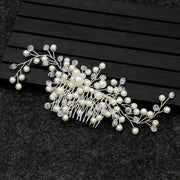 Trendy Pearl Hair Comb Winding Bridal Hair Ornaments Decorations Handmade Crystal Headbands For Bride Bridesmaid Hair Jewelry